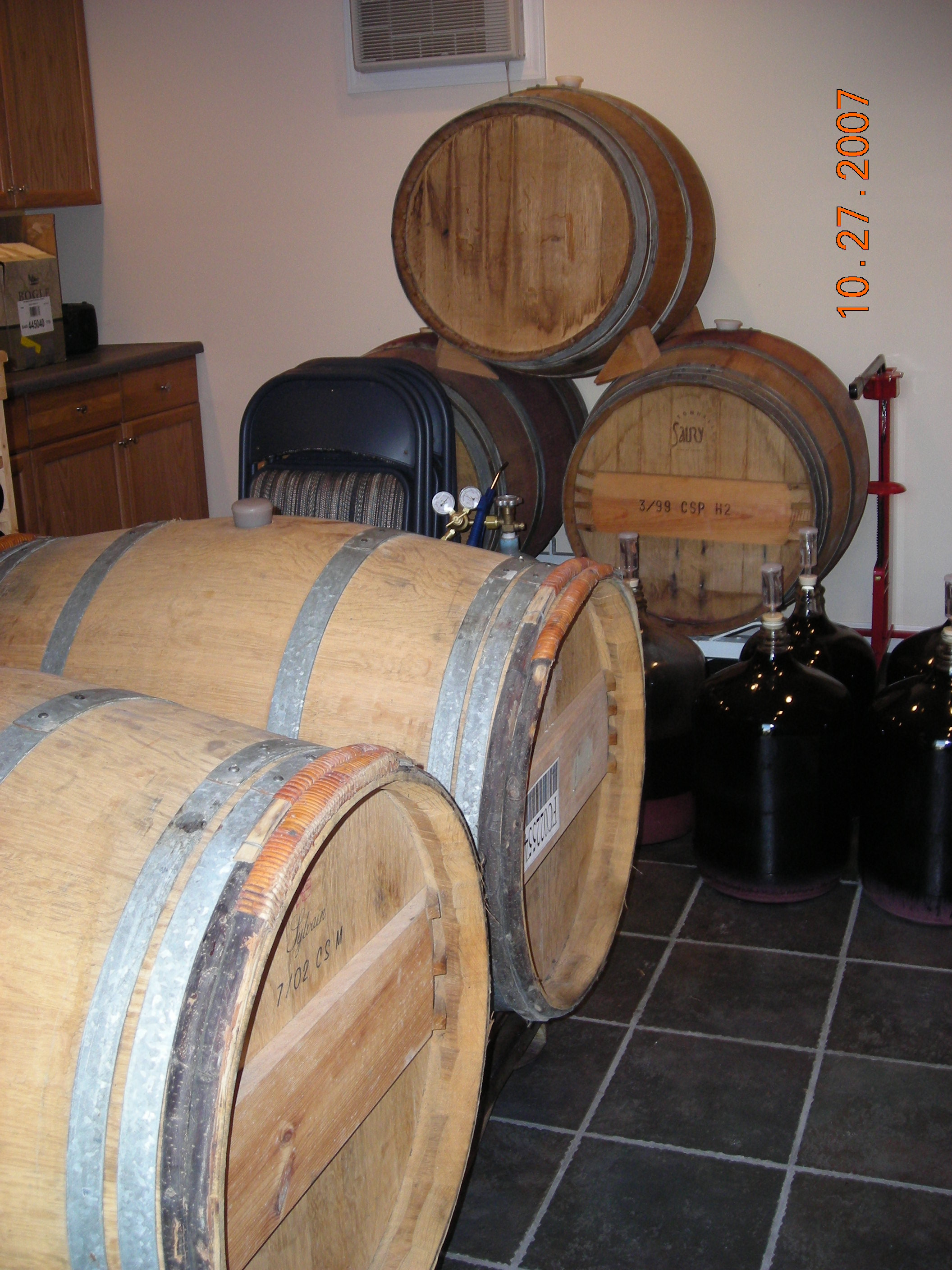 New barrels - purchased 10/24/07.